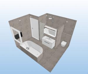 Diensten badmiddeljans for Ontwerp badkamer 3d